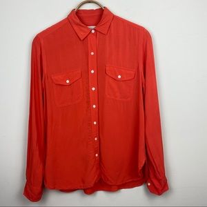 Ann Taylor LOFT || Button Down with Tab Sleeves; S